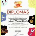 """Diplomas iš parodos """"Nusipiešk sau kojinytes"""" 2019"""