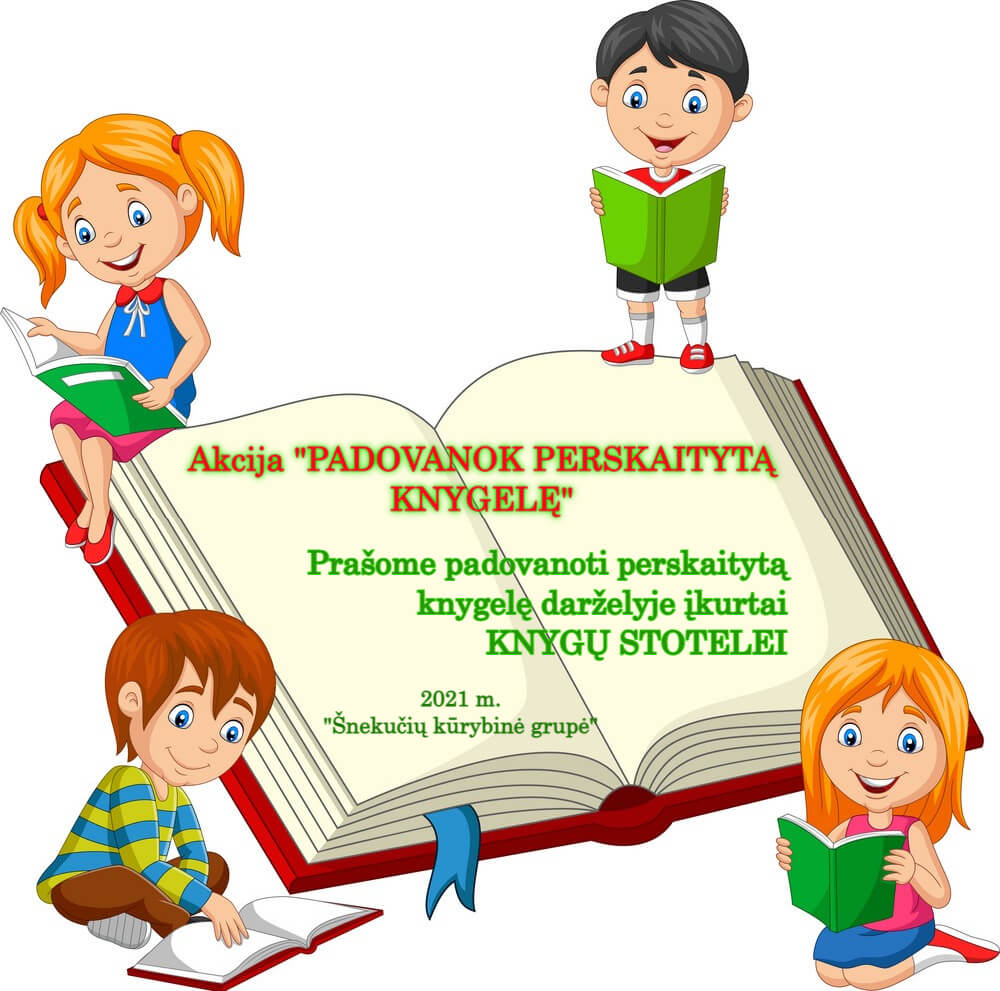 Padovanok perskaitytą knygelę